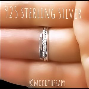 Set of 3 925 Sterling Silver Rings